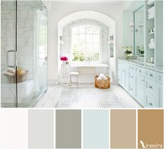64 Ideas Bathroom Ideas Color Scheme Traditional For 2019 Modern Masters, Contemporary Bathrooms, Colorful Interiors, Decoration, Living Room Designs, Small Spaces, Color Schemes, Sweet Home, New Homes