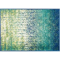 Loloi Madeline Watercolor Rug, Blue Cascade ($68) ❤ liked on Polyvore featuring home, rugs, blue cascade, patterned rugs, blue rugs, polypropylene rugs, olefin rugs and watercolor rug