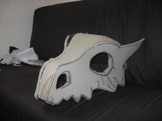 how to make cubone mask - Google Search