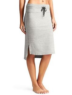 Bay View Skirt - Super-soft stretch modal French terry in an easy-to-wear beach skirt with a step hem.