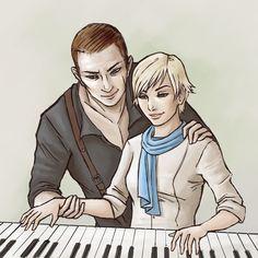 Jake x Sherry - Piano Lessons by Belderiver.deviantart.com on @DeviantArt