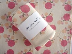 ORGANIC Baby Blanket Blush Pink Ranunculus & Berry Print Jersey Swaddle Large