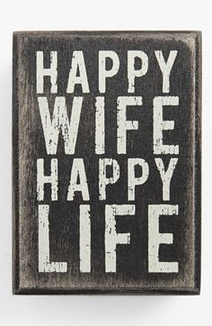 Primitives by Kathy 'Happy Wife' Box Sign available at #Nordstrom