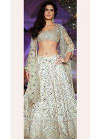 Latest Designer White Designer Lehenga  By Kmozi..  http://www.kmozi.com/bollywood-replica/online-shopping-bollywood-actress-lehenga-choli/latest-designer-white-designer-lehenga-by-kmozi-1313