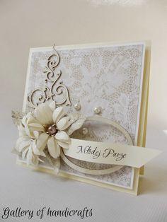 card flowers doily flourish vintage shabby chic romantic Gallery of handicrafts