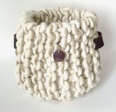 Hemp and wool rope knitted basket - COUNTRY CULTURE