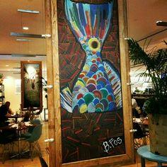 Borgne   John Besh Restaurant   Chalk art by Becky Fos