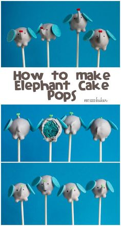 Delightful and Fun! Learn how to make Elephant Cake Pops. They are so cute for a baby shower!