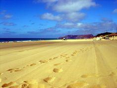 The yellow sands of Porto Santo, Madeira