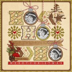 christmas scrapbooking layout   Found on sweetshoppedesigns.com