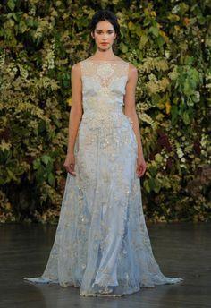 Blue Ombre Wedding Dress | Claire Pettibone Wedding Dresses Fall 2015 | Kurt Wilberding | blog.theknot.com