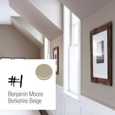 If you're just dipping your toes into the gray trend, this is a perfect place to start. Berkshire Beige by Benjamin Moore. This soft neutral hue is a warm beige with taupe and gray undertones. It's lovely in any size room and pairs perfectly with a warm honey or dark hardwood floor. Visit to blog to find out my other 3 favorite grays.
