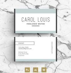 Modern Business Card Template by Emily's ART Boutique on @creativework247
