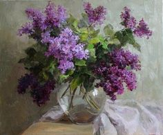 so beautiful ♡ Lilac Painting, Painting & Drawing, Watercolor Paintings, Art Floral, Flower Vases, Flower Art, Vj Art, Easter Paintings, Virtual Art