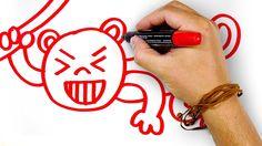 Красная Обезьяна, рисуем маркером, РыбаКит