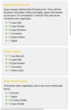Green juice recepies