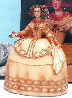 Recreaciones de obras de arte modernas ARTEESPAÑA Infanta Margarita, Baroque Fashion, Paper Mache, Golden Age, Ceramic Art, Sculpture Art, Art Projects, Disney Characters, Fictional Characters