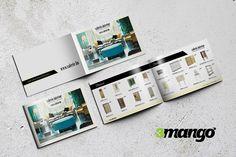 Elegáns katalógus készítés - borító és belívek grafikai tervezése, célcsoportnak megfelelően magas színvonalú, nívós termékeket tükrözve.