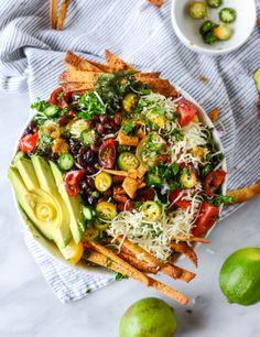 crunchy taco kale salad I howsweeteats.com