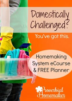 I know I need this! A free homemaking planner just for those who struggle with that. There's a 7-day e-course to help set it up too! Sweet!