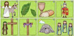 Ideenreise: Lesezuordnungskarten zur Ostergeschichte