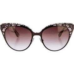Pre-owned Jimmy Choo Estelle Cat-Eye Sunglasses (€150) ❤ liked on Polyvore featuring accessories, eyewear, sunglasses, gold, etched glasses, jimmy choo sunglasses, gradient lens sunglasses, jimmy choo glasses and jimmy choo