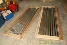 Farm Style Corrugated Tin Closet Doors with PureBond