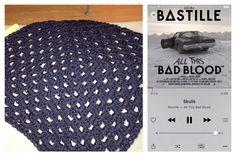 "Slowly making progress on my cocoon sweater. @bastilledan ""Skulls"" on the iPod.  #crochet #sweater #memmiescorner #crochetsweater #grannysquare #handmade #crochetaddict #bastille #music #itunes by memmiescorner"
