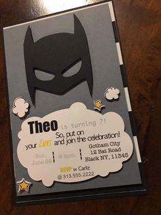 Batman invitation by CraftedwLovebyCarliz on Etsy https://www.etsy.com/listing/506068458/batman-invitation