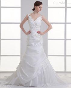 Mitte Rücken Ärmelloses Gerüschtes Halle Bezauberndes Langes Brautkleid - Bild 1
