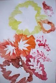 Resultado de imagem para pré-escolar trabalhos com folhas do outono