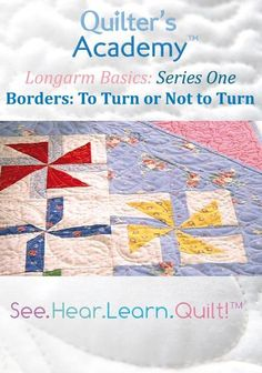 Longarm Basics: Borders: To Turn or Not to Turn (DVD) #Handiquilter