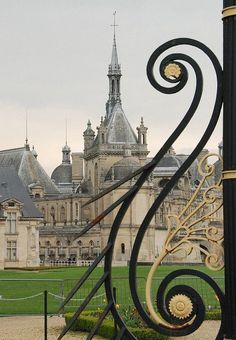 Château gate, Chantilly France.