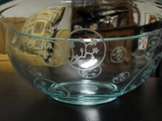 More glass etching.