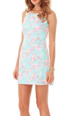 Lilly Pulitzer Delia Shift Dress in Lobstah Roll.  I'm so incredibly obsessed with this print this year!