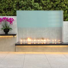 Luxurious outdoor living. Spark brings the latest, leading-edge linear fireplace to the outdoors. With this flawless modern design element as the centerpiece of the space, you may never want to go back inside.