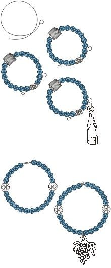 How to make wine-glass charms (another free jewelry project from Rings & Things)