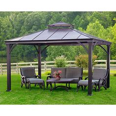 12 x 10 Metal Gazebo Heavy Duty Outdoor Hard Roof for Patio Sets Hot Tubs Hotel: $2,189.34End Date: Dec-05 05:25Buy It Now… #eBay #Amazon