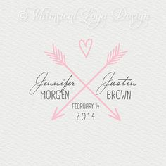 Premade Wedding  Logo Design and Watermark by WhimsicalLogoDesign, $30.00