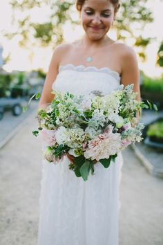 bridal bouquet // photo by Amber Vickery, flowers by Love n Fresh Flowers // view more: http://ruffledblog.com/garden-wedding-at-terrain