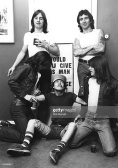 Photo of AC/DC and Phil RUDD and Bon SCOTT and Malcolm YOUNG and Angus YOUNG and…