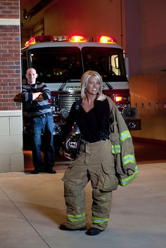 Yep - she's the firefighter!