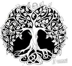 Celtic tree of life tattoo-design. Celtic tree of life tattoo-design. Symbol Tattoos, Celtic Tattoos, Tatoos, Wiccan Tattoos, Indian Tattoos, Celtic Symbols, Celtic Art, Celtic Knots, Celtic Crosses