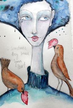 artjurnal page, watercolor