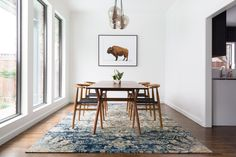 Love the rug and chairs