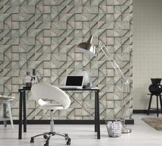 The wallpaper Wood & More - from Living Walls is a wallpaper with the dimensions tapeted m. The wallpaper Wood & More - belongs to the popular w Mosaic Wallpaper, Wood Wallpaper, Drops Patterns, Living Walls, Mosaic Tiles, Wallpapers, Home Decor, Timber Wall Panels, Mosaic Pieces