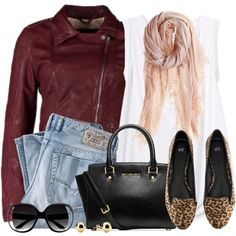 """""""Leather Jacket & Ballet Flats"""" by wishlist123 on Polyvore"""