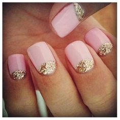 Pink and Gold half moons