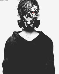 Este men me recuerda un poco a Uta de Tokyo Ghoul