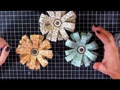 Video tutorial on how to make these fun flowers!  http://catherinepooler.com/dakisofe/  #stampinup